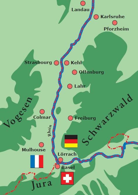 Upper Rhine Valley Innovation Academy - Rhine valley germany map